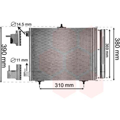 Van Wezel 40005295 Condenser, Air Conditioning VAN WEZEL GMBH