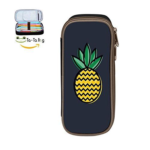 Kids Spy Pen Tool - Large Capacity Canvas Mobile Phone Box Portable For Men,Print Pineapple Black