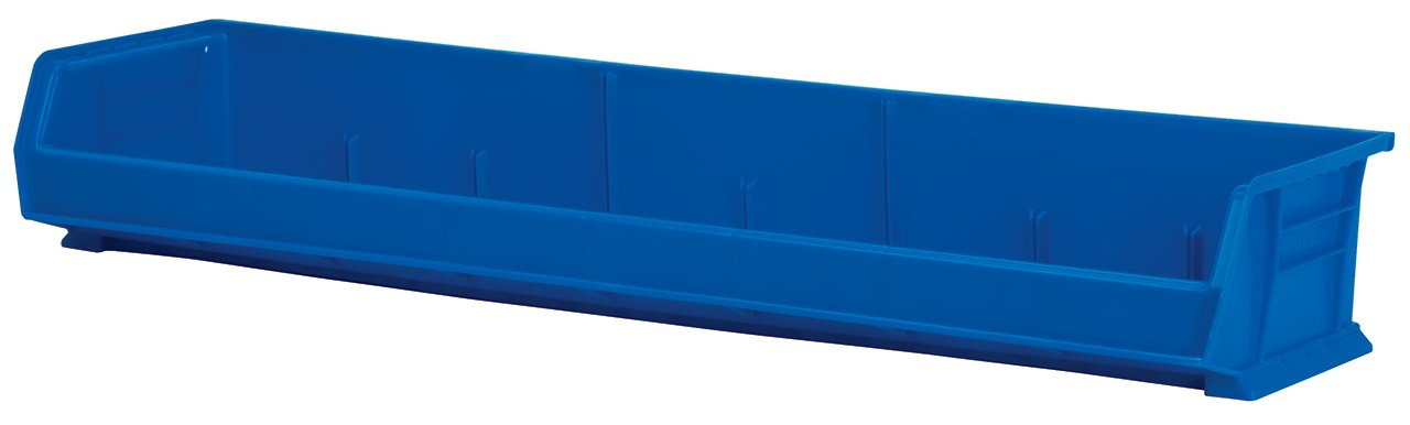 Akro-Mils 30320 8-Inch by 33-Inch by 5-Inch Wide Plastic Storage Stacking Akro Bin, Blue, Case of 4 by Akro-Mils (Image #1)