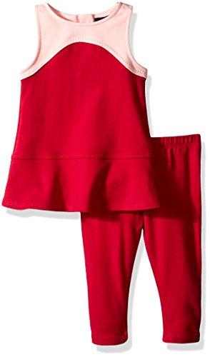 时髦宝贝!NAUTICA 诺帝卡 女宝宝拼色套装,仅售$7.25