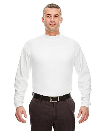 tian Interlock Long-Sleeve Mock Turtleneck XL White ()