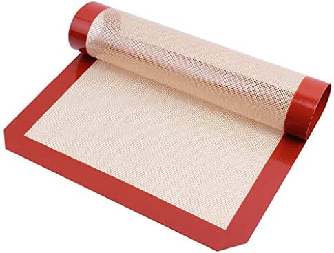 Red Non Stick Silicone Rolling Pastry Pad Cake Baking Dough Mat Measurements UK