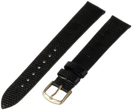 Hadley-Roma Men's MSM700LA-180 18-mm Long Black Genuine Lizard Leather Watch Strap