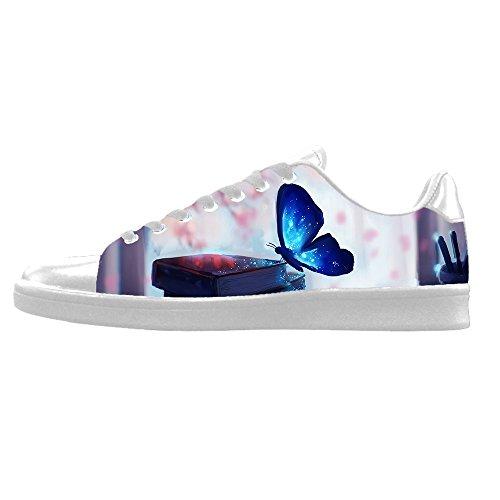 Men's Shoes Colore Di Le In Sopra I Custom Alto Scarpe Tela Canvas Butterfly Lacci Ginnastica Delle Da Flying gtawqX