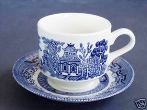 Amazon Com Churchill Made In England Blue Willow Pattern
