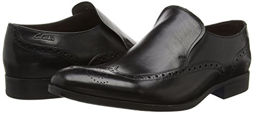 Clarks Banfield Slip, Men's Slippers Black (Black Leather)