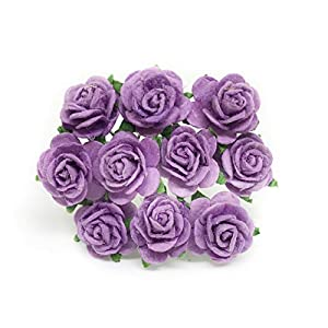 "1/2"" Lilac Purple Mulberry Paper Flowers, Paper Rose, Lilac Flowers, Floral Crown Flowers, DIY Wedding, Wedding Decor, Wedding Table Flowers, Lilac Wedding, Artificial Flowers, 50 Pieces 63"