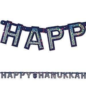 Hanukkah Prismatic 7ft Letter Banner by Party America