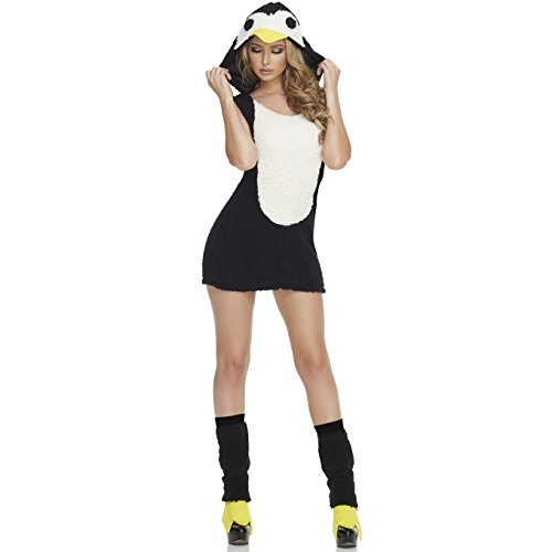 Sexy Penguin Costumes (Mystery House Women's Penguin, Black/White, X-Large)