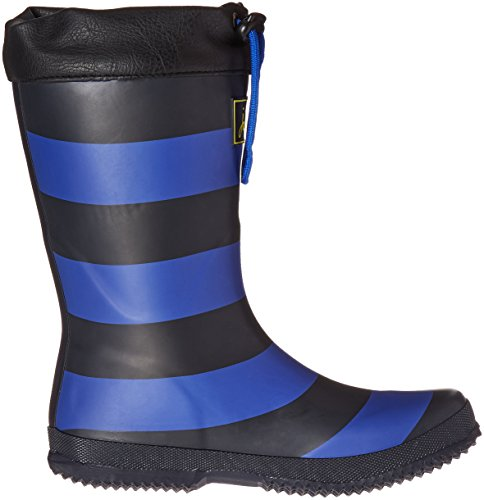 Pictures of Joules Kid's Winter Welly Rain Boot Slate Blue Stripe 3