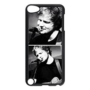 Singer Ed Sheeran Protective Hard Case Cover Skin for iPod Touch 5 5G 5th Generation- 1 Pack - Black/White - 2-Perfect Gift for Christmas