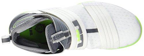 Nike Lebron Soldier 10 Sfg, Zapatillas de Baloncesto para Hombre Blanco (Blanco (white/cool grey-electric green))