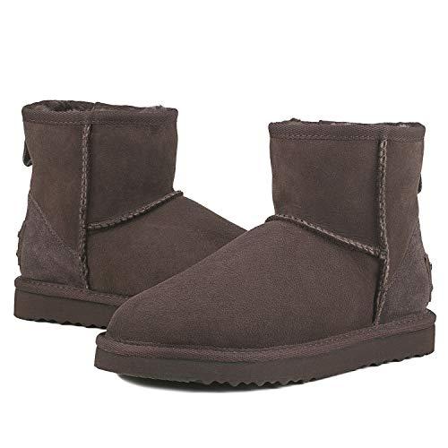 Chocolate Sheepskin AUSLAND Classic Snow Women's Boot Short 8B4Yw