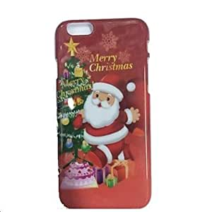 JAJAY Specially Designed Christmas Pattern Plastic Cover for iPhone 6
