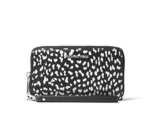 MICHAEL Michael Kors Jet Set Travel Leopard Leather Smartphone Wristlet