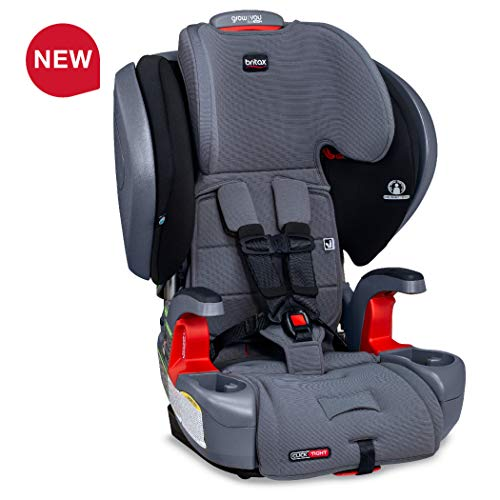 Britax Grow with You ClickTight Plus Harness-2-Booster Car Seat – 3 Layer Impact Protection – 25 to 120 pounds, Otto Safewash Fabric [Newer Version of Pinnacle]