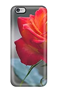 5062237K35734163 Fashionable Style Case Cover Skin For Iphone 6 Plus- Orange Rose