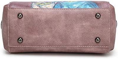 zZZ Blooming Stampa Bag Ragazza Diagonale Spalla Selvaggio Semplice Borsa Borse Casuali 25 * 12 * 21 cm Moda