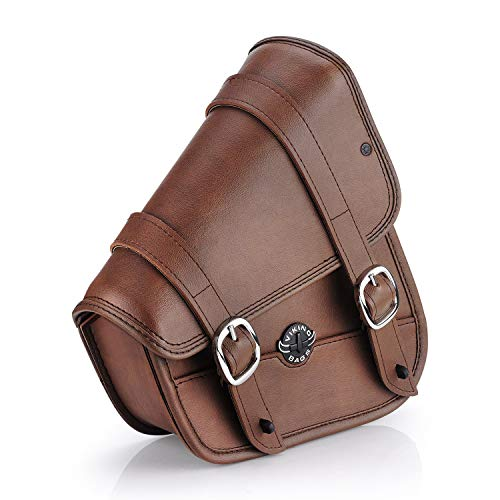 - Viking Bags Harley Sportster Specific Motorcycle Swing Arm Bag (Brown)
