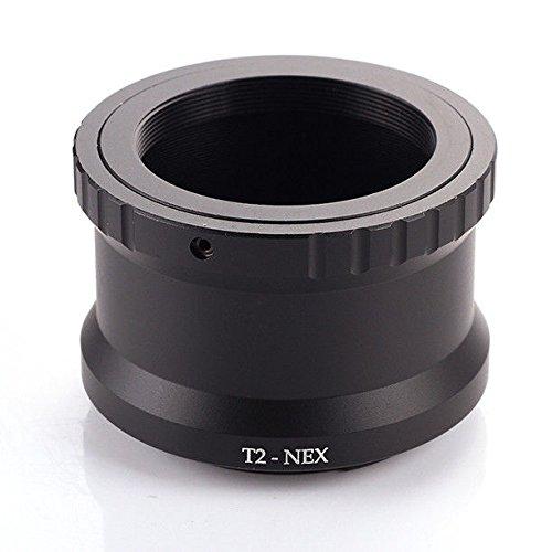 FocusFoto T2 T Lens to Sony Alpha E-Mount Mirrorless Camera Body Adapter Ring NEX-7 NEX-6 NEX-5 5T 5N 5R 3N A7 A7S A7R II A6500 A6300 A6000 A5100 A5000 A3000 NEX-FS700 VG40 T2-NEX Metal