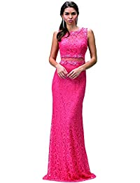 Evening Gown Party Dress (XXL, Coral)