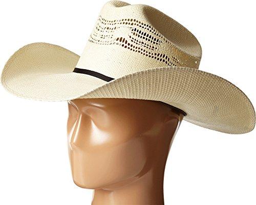Bangora Straw Cowboy Hat - Ariat Unisex Bangora Cowboy Hat, Natural, 7 3/8