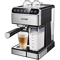 AICOOK 219 Coffee Maker, 15.3 x 13.4 x 10.5 inches, Black