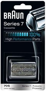 Braun - Combi-pack 70S - Láminas de recambio + portacuchillas para afeitadoras Series 7 y Pulsonic: Amazon.es: Salud y cuidado personal