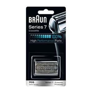 Braun - Combi-pack 70S - Láminas de recambio + portacuchillas para afeitadoras Series 7 y Pulsonic