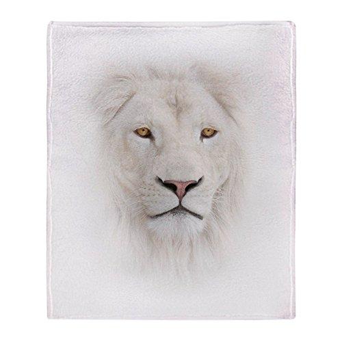 CafePress White Lion Head Soft Fleece Throw Blanket, 50