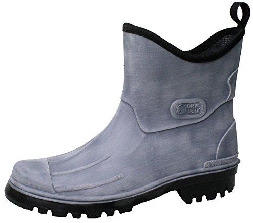LUTZ 46 Stivaletti grey Sguardo gomma spazzolato Uomo pioggia Scarpe gomma BOCKSTIEGEL di Dimensioni di Stivali 41 BSqxnwZEd6
