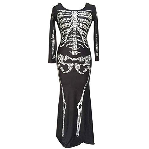 Clearance Sale! Wintialy Women Ghost Festival Horror Skeleton Skeleton Ghost Costume Party Dress M by Wintialy Dress (Image #1)
