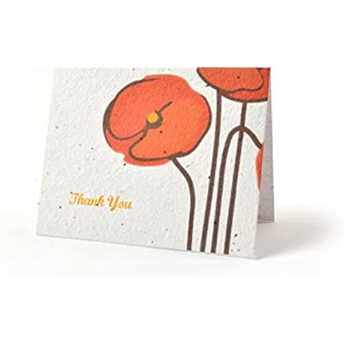 Bloomin Thanks A Bunch Seed Paper Greeting Cards - Poppy {8 Pack} Sales