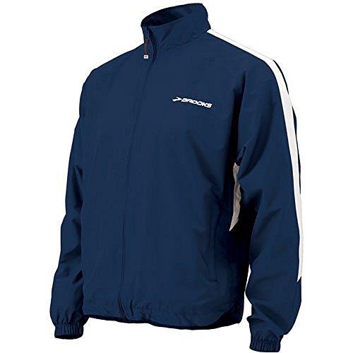 Brooks Unisex Podium Jacket, Color: Navy, Size: - Podium Apparel