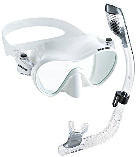 Cressi Junior Frameless Mask Dry Snorkel Set, White