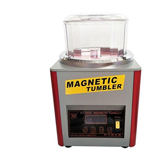 BAOSHISHAN KT-185S 110V/220V 磁気バレル研磨機600g 磁気タンブラー マグネチックポリッシャー タイマー付 正反転可能 バリ除去 金属磨き ジュエリー工具 研磨ツール(110V) B07B4T5PNC