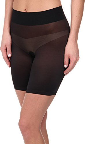 Wolford Women's Sheer Touch Control Shorts Black 44 by Wolford