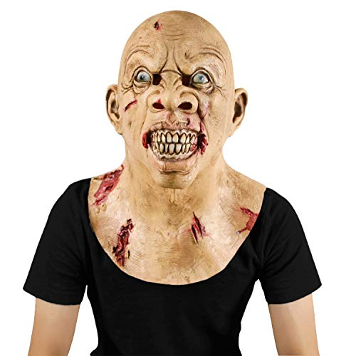 The Walking Dead Zombie Horror Creepy Mask Halloween Costume Party Latex Biochemical Monster -