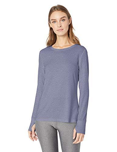 Amazon Essentials Women's Studio Long-Sleeve Lightweight T-Shirt, -night shadow blue, Small
