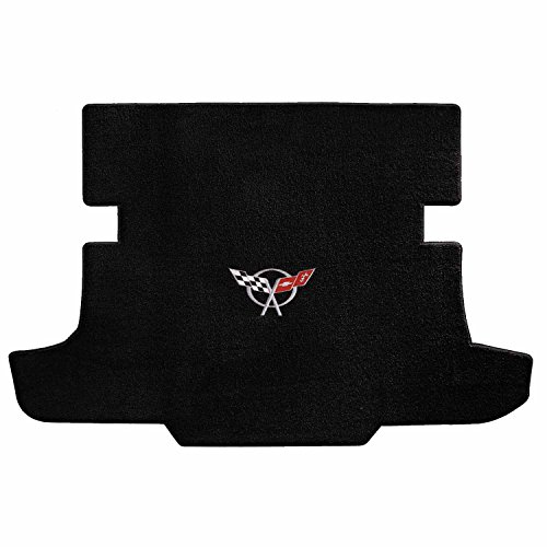 (Lloyd Mats 1997-2004 C5 Corvette Hardtop Black Ultimat Trunk Mat - Silver Flags Logo)