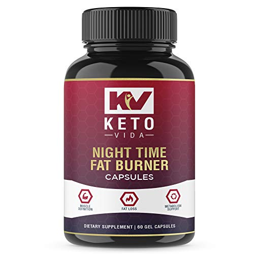 Night Time Weight Loss Fat Burner Supplement Pills and Appetite Suppressant for Men and Women - Sleep Aid - White Kidney Bean Extract, Green Coffee Bean Extract, L-Theanine, L-Tryptophan, Melatonin ()