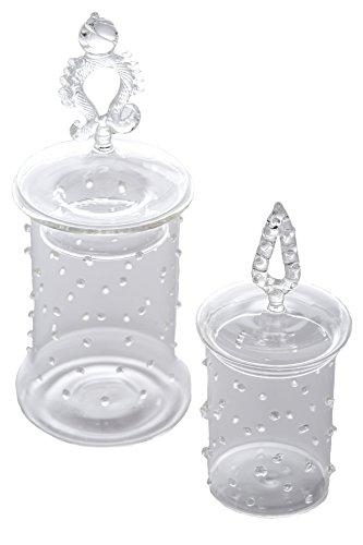 Abigails La Boheme Apothecary Jars with Small Dots, Set of 2