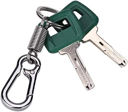 Notonmek Laser Cut Ignition Key 11039228 17225331 with Keychain for Volvo Articulated Hauler Models A25D A35C A35D A40 A40D 2 Keys