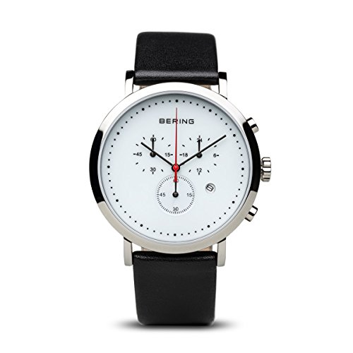 BERING Time 10540-404 Classic Collection Watch with Calfskin Band and scratch resistant sapphire crystal. Designed in - Discount Watchshop