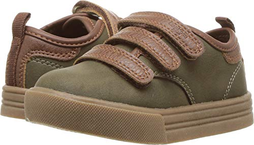 OshKosh B'Gosh Boys' Keyes Sneaker, Olive, 6 M US Toddler