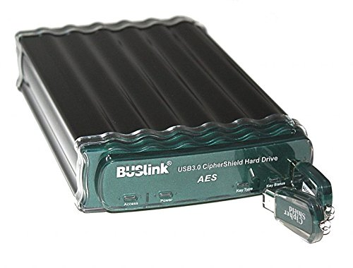 Buslink CipherShield USB 3.0/eSATA FIPS 140-2 Level 2 HIPAA 256-bit AES Hardware Encrypted Desktop Hard Drive (4TB) ()