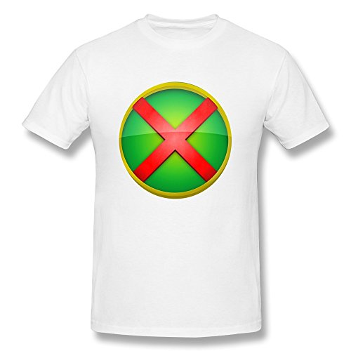 Men's Cool Tshirts - Martian Manhunter Logo White Size L