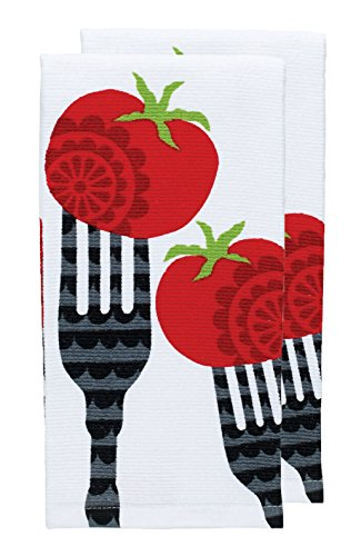 T-fal Textiles Double Sided Print Woven Cotton Kitchen Di...