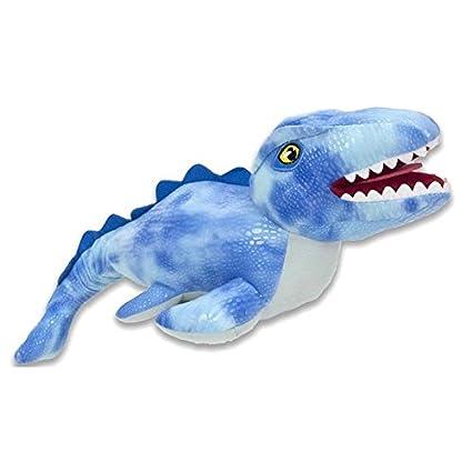 PELUCHILANDIA Dinosaurios peluche JURASSIC WORLD (Blue Raptor-TRex-Mosasaurus-Stiggy) Precio por Unidad.: Amazon.es: Juguetes y juegos