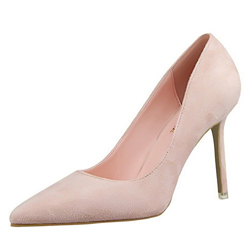 Flats Luccichio Donna VogueZone009 Alto Tacco Ballet Punta Rosa Chiusa 50w0nxqOa